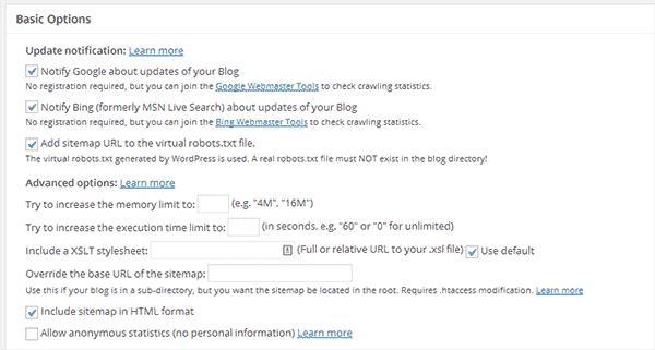ایجاد نقشه سایت در وردپرس با Google XML Sitemaps