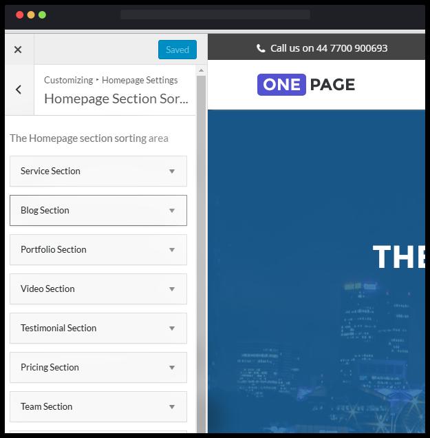 قالب شرکتی One-Page
