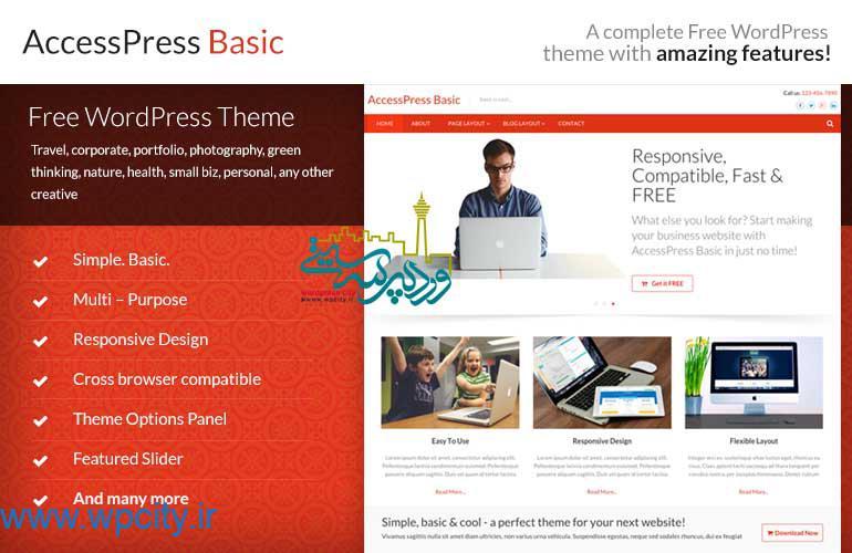 قالب شرکتی Accesspress Basic