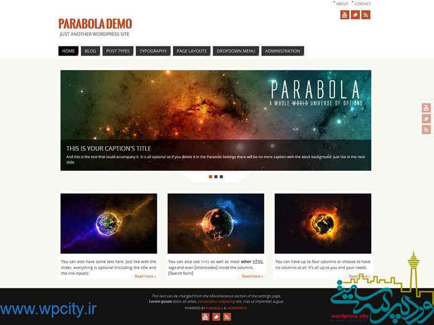 قالب وبلاگی Parabola