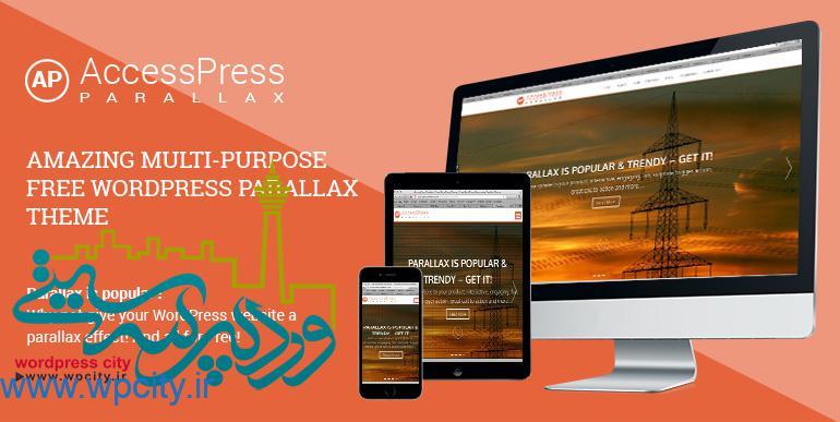 قالب شرکتی Accesspress Parallax
