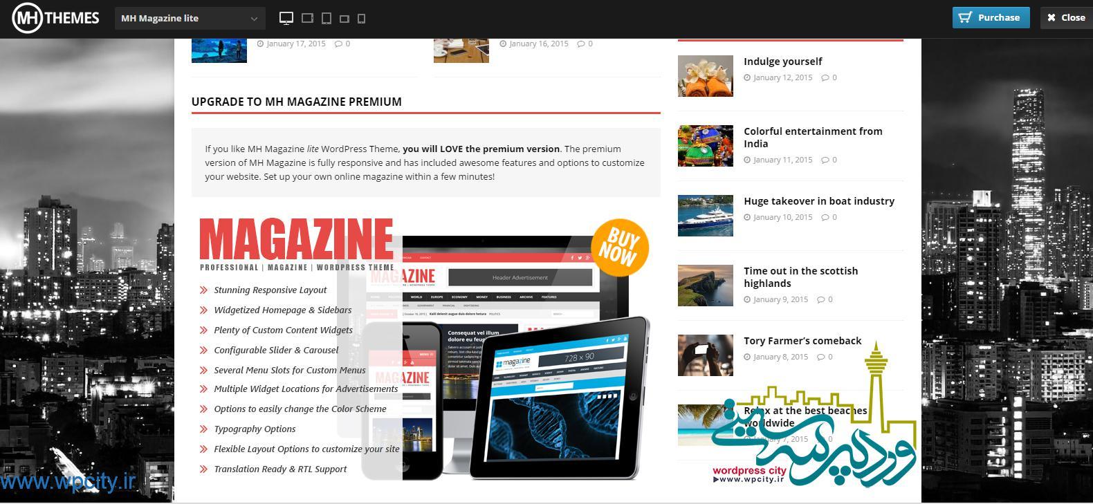 قالب خبری Magazine-Lite