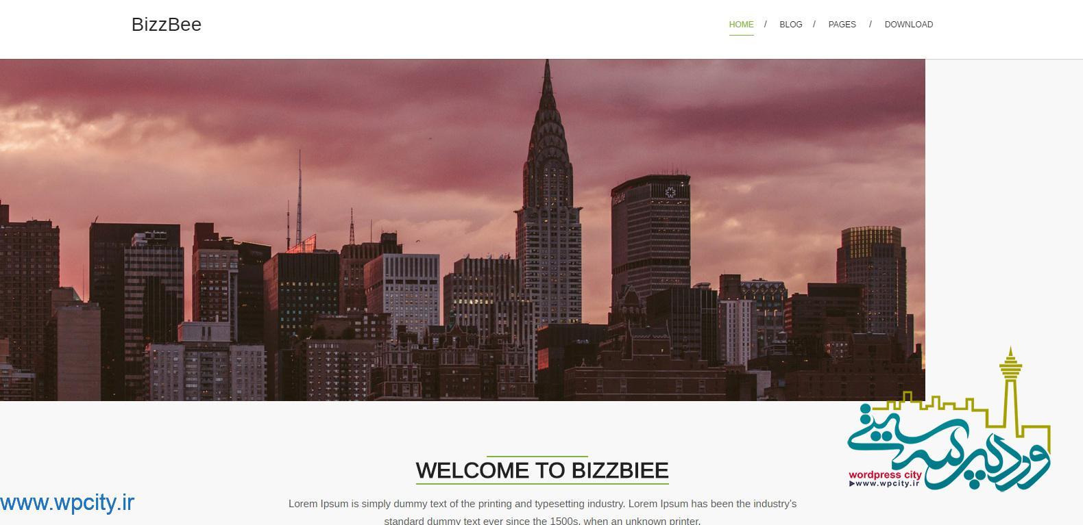قالب شرکتی BizzBee
